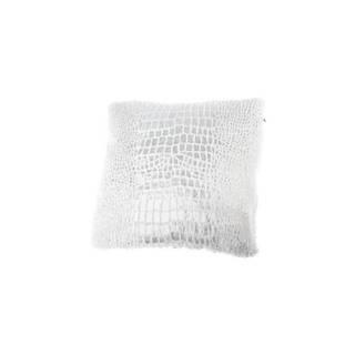Biely vankúš so zvieracím vzorom Dakls 43 x 43 cm