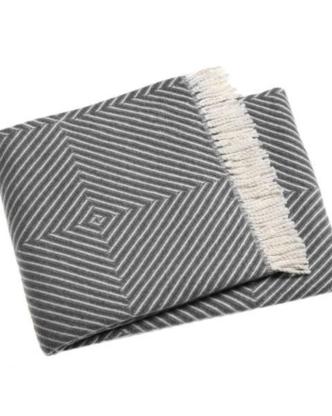 Euromant Sivý pléd s podielom bavlny Euromant Tebas, 140×180 cm