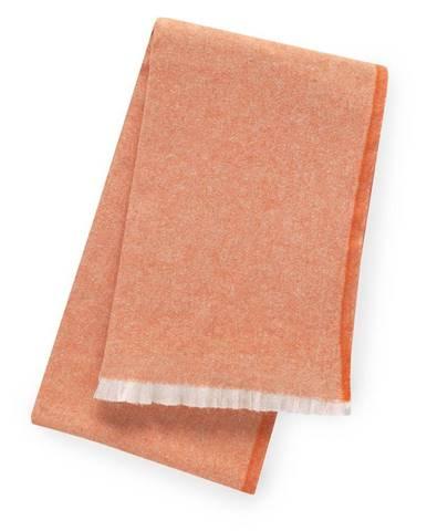 Oranžový pléd s podielom bavlny Euromant Linen, 140 x 180 cm