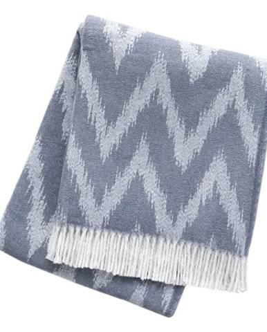 Sivo-modrý pléd s podielom bavlny Euromant Mallorca, 140 x 180 cm