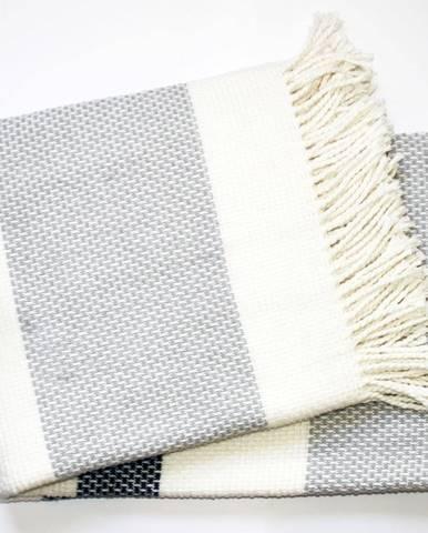 Svetlosivý pléd s podielom bavlny Euromant Granite, 140×180 cm