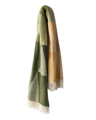 Zelený pléd s podielom bavlny Euromant Pisa, 140×180 cm