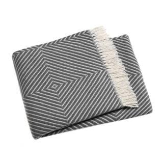 Sivý pléd s podielom bavlny Euromant Tebas, 140×180 cm