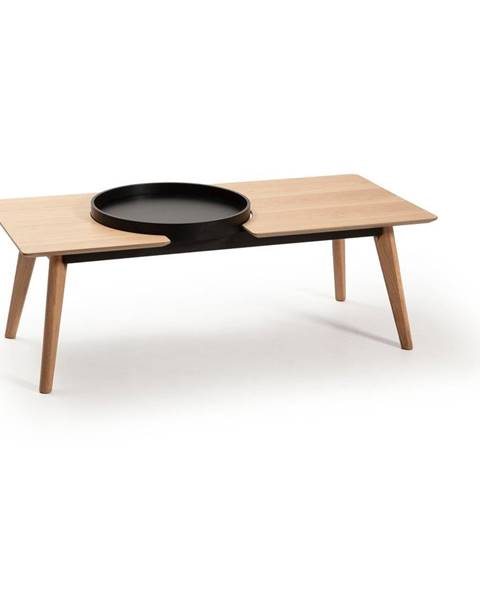 Marckeric Hnedý konferenčný stolík s nohami z dubového dreva Marckeric India