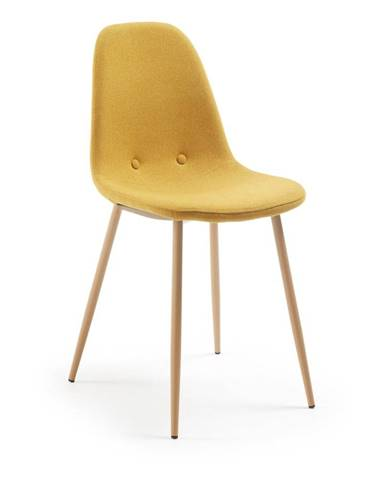 Horčicovožltá jedálenská stolička La Forma Lissy