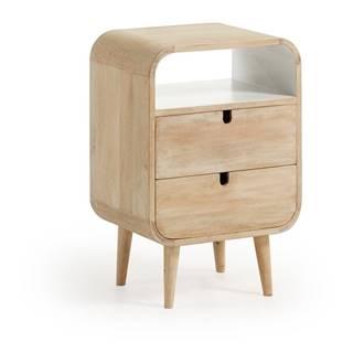 Nočný stolík z mangového dreva s 2 zásuvkami La Forma Gerald, 40×30cm