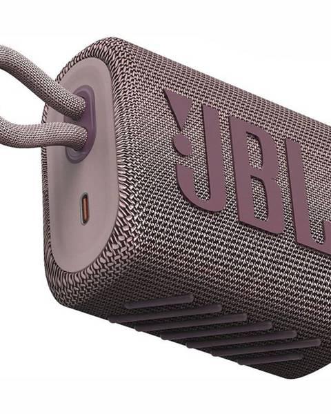 JBL Prenosný reproduktor JBL GO3 ružov
