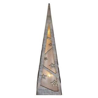 LED dekorace  Emos pyramida, 36cm, 2× AA, teplá bílá, časovač