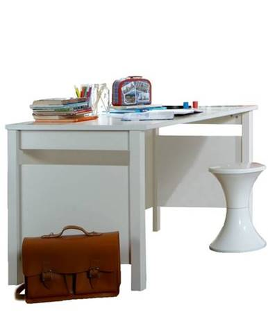 Písací stôl VANNES biela