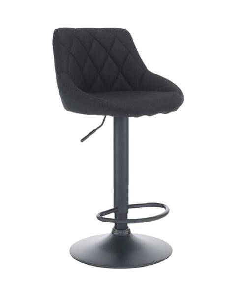 Tempo Kondela Barová stolička látka čierna/čierna TERKAN