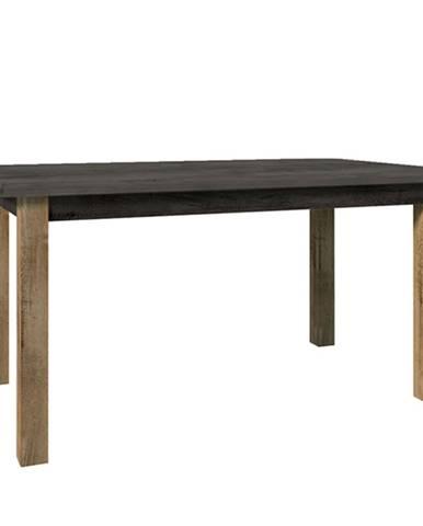 Jedálenský stôl rozkladací dub lefkas tmavý/smooth sivý MONTANA STW