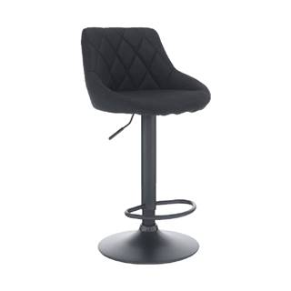 Barová stolička látka čierna/čierna TERKAN