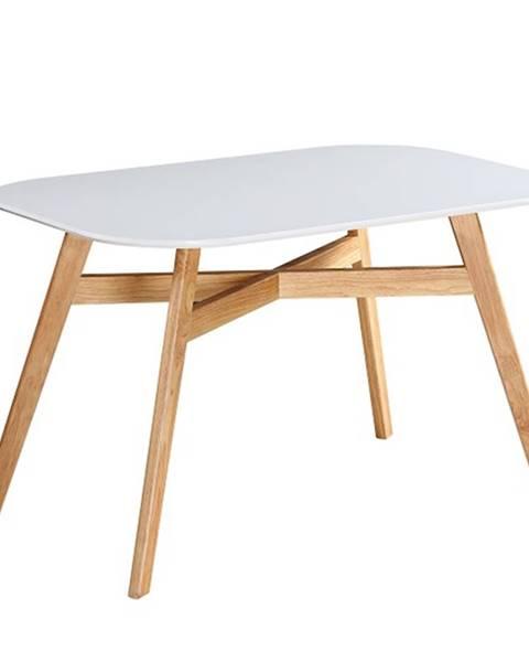 Tempo Kondela Jedálenský stôl biela/prírodná CYRUS 2 NEW