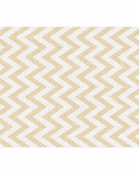 Tempo Kondela Koberec béžovo-biela vzor 133x190 ADISA TYP 2