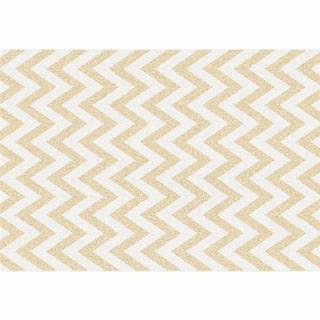 Koberec béžovo-biela vzor 133x190 ADISA TYP 2