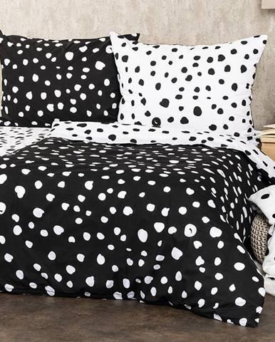 4Home Bavlnené obliečky Dalmatín čiernobiela, 140 x 200 cm, 70 x 90 cm