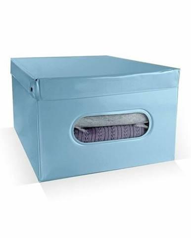 Compactor Skladací úložný box PVC so zipsom Compactor Nordic 50 x 38.5 x 24 cm, svetlomodrý