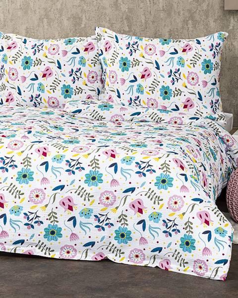 4Home 4Home Krepové obliečky Flowers, 220 x 200 cm, 2 ks 70 x 90 cm