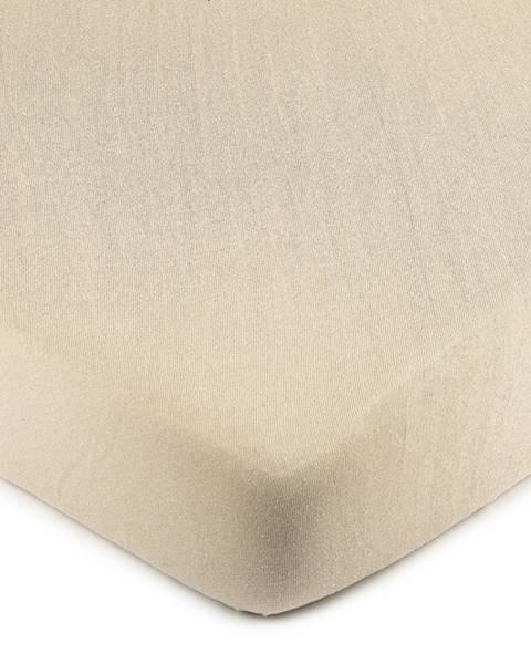 4Home 4Home Jersey prestieradlo béžová, 70 x 140 cm