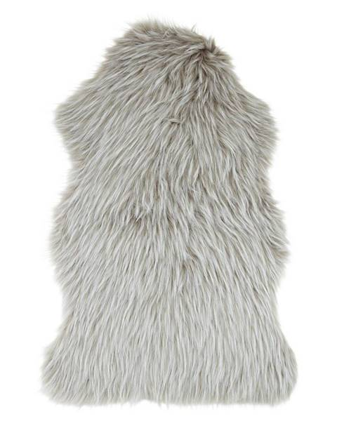 Möbelix umelá kožušina Marina, 90/60cm, sivohnedá