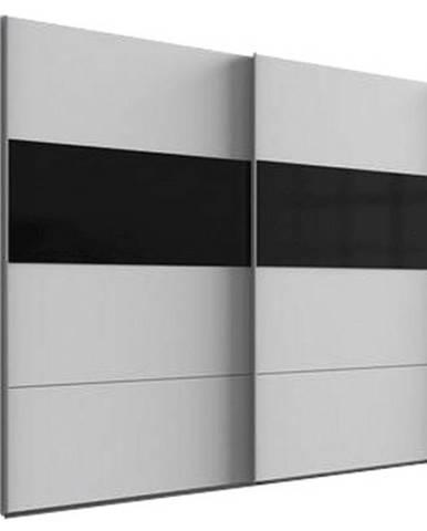 Skriňa S Posuvnými Dverami Bramfeld,biela/sklo Čierne