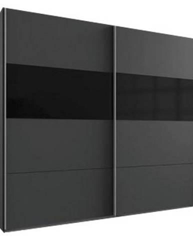 Skriňa S Posuvnými Dverami Bramfeld,grafit/sklo Čierne