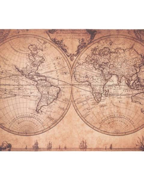 Möbelix Hladko Tkaný koberec World Map, 120/180cm