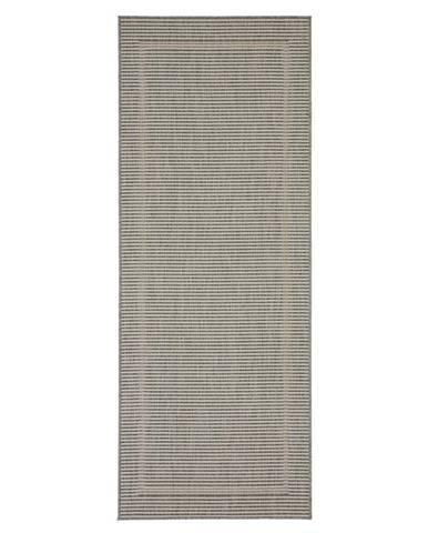 Hladko Tkaný Koberec Kanada 1, 80/200cm, Sivá