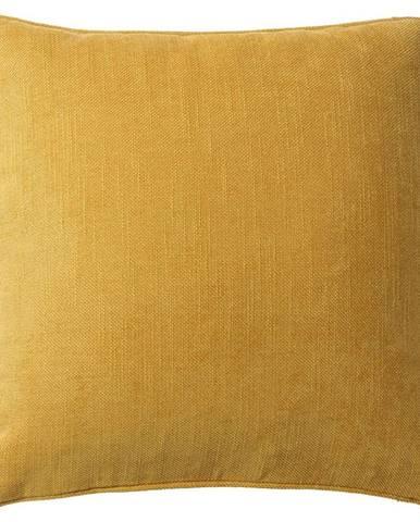 Poťah na Vankúš Mary Leinen, 48/48cm, Žltá