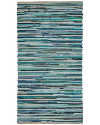 Ručné Tkaný koberec Verona 2, 80/150cm, Modrá
