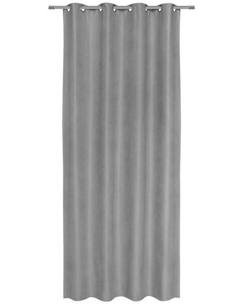 Möbelix Záves S Krúžkami Nizza, 140/245cm, Sivá