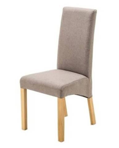Jedálenská stolička FOXI prírodný buk/sivá