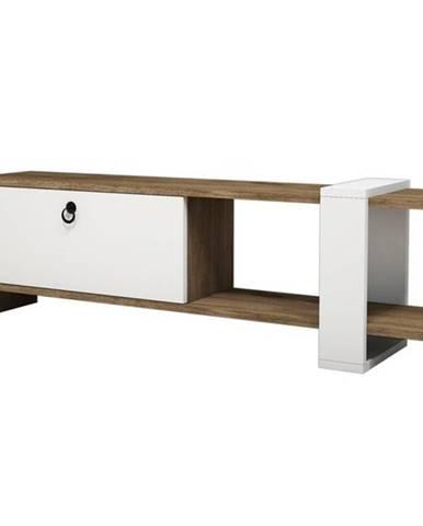 TV stolík GAYE orech/biela