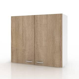 Závesná horná skrinka POLAR II dub sonoma/biela, 80 cm