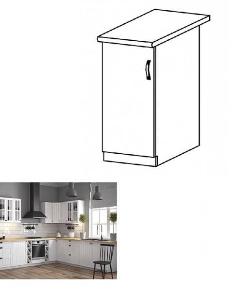 Kondela Dolná skrinka D30 ľavá biela/sosna andersen PROVANCE
