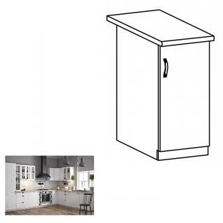 Dolná skrinka D30 pravá biela/sosna andersen PROVANCE