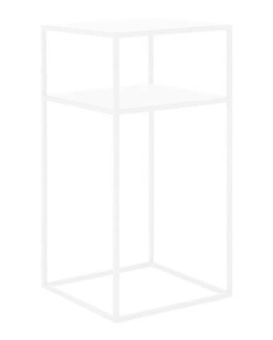 Biely odkladací poschodový stolík Custom Form Tensio, 30 × 30 cm