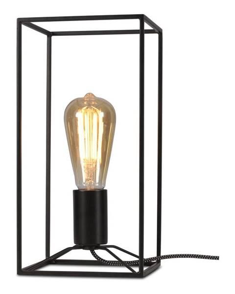 Citylights Čierna stolová lampa Citylights Antwerp, výška 30 cm