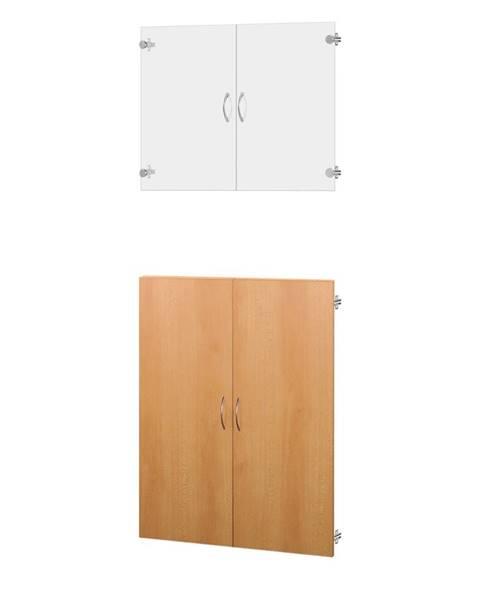 IDEA Nábytok Sklenené a drevené dvierka 30A buk