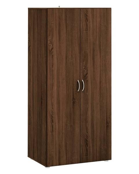 IDEA Nábytok Skriňa 2-dverová BEST dub čokoláda