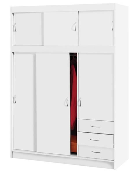 IDEA Nábytok Skriňa s posuvnými dverami 3000 biela