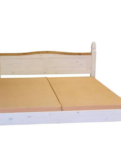 IDEA Nábytok Dvojlôžko CORONA biely vosk 140x200