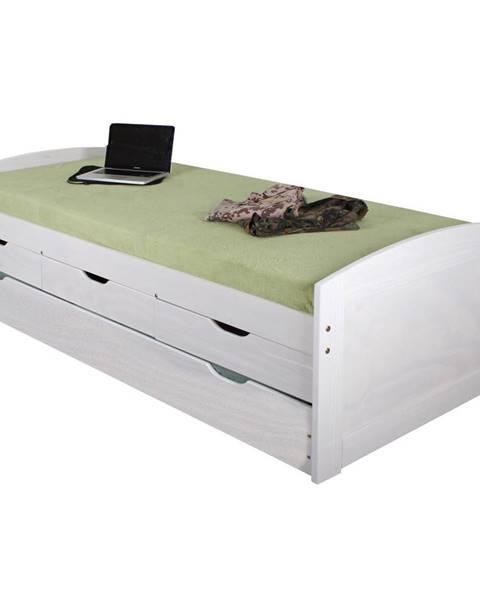 IDEA Nábytok Jednolôžko MARINELLA biele