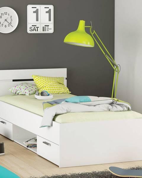 IDEA Nábytok Multifunkčná posteľ 90x200 MICHIGAN perleťovo biela