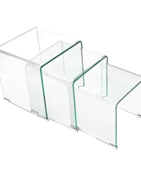 IDEA Nábytok Sada 3 stolíkov sklo