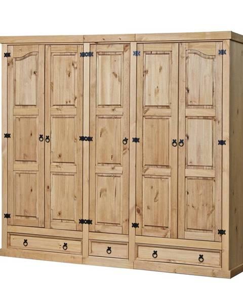 IDEA Nábytok Skriňa 5-dverová CORONA vosk 162819