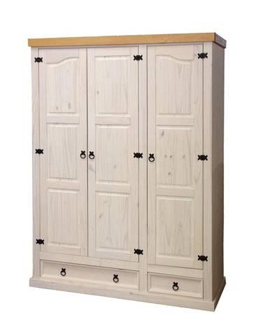 Skriňa 3-dverová CORONA biely vosk 162818B