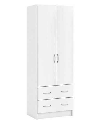 Skriňa policová 2 dvere + 2 zásuvky BEST biela