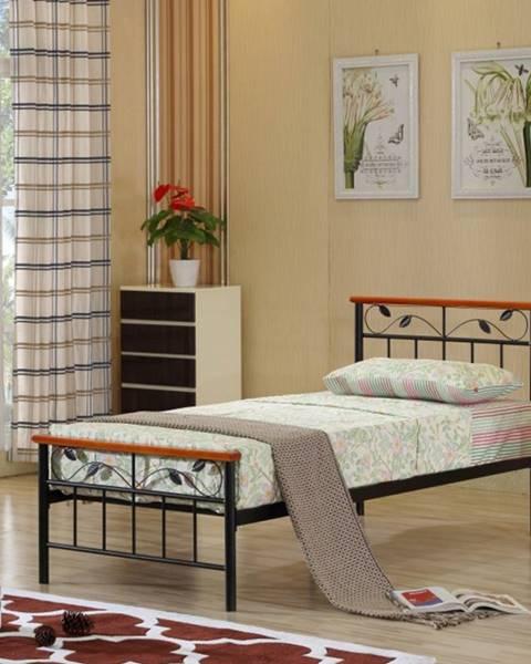 Kondela Tempo Kondela Jednolôžková kovová posteľ MORENA / 90x200