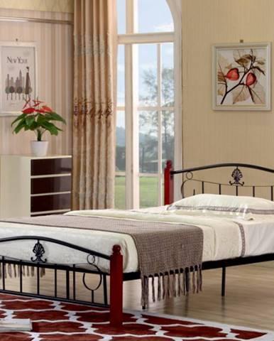 Tempo Kondela Kovová manželská posteľ MAGENTA / 140x200